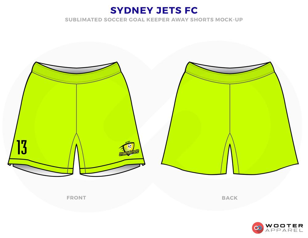 Sydney Jets FC Lime Green Soccer Uniform, Jersey and Shorts