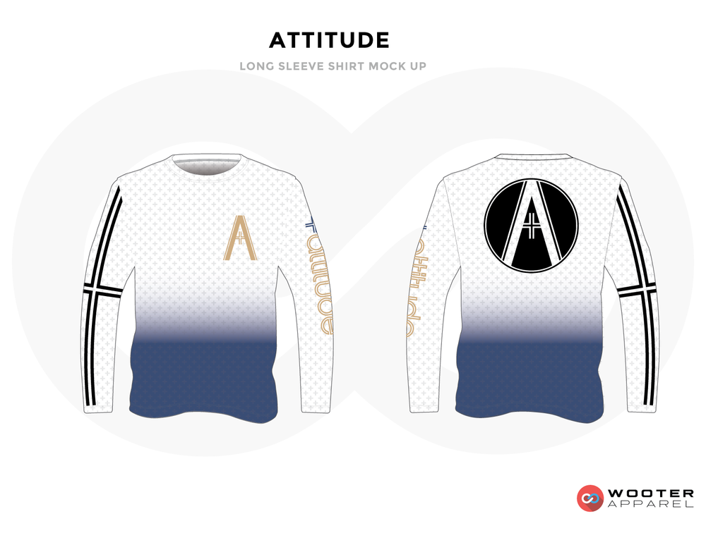 ATTITUDE White, Blue, Black and Golden Premium Shooting Shirt