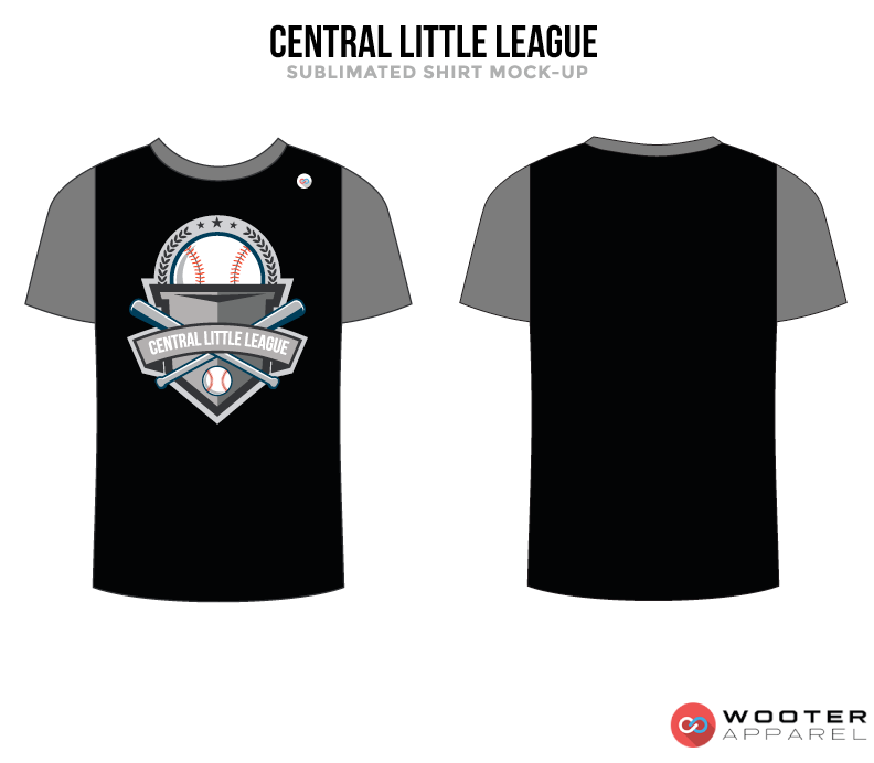 CENTRAL LITTLE LEAGUE Black, White, Golden and Grey Premium Shooting Shirt