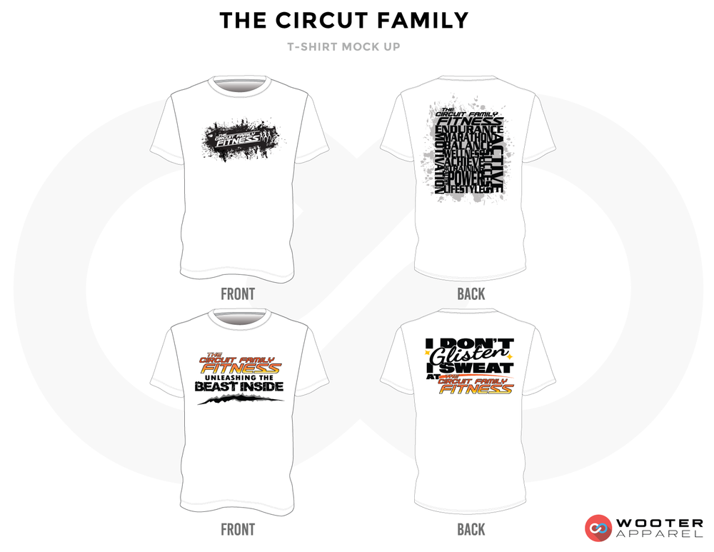 THE CIRCUT FAMILY White, Black and Golden Premium Shooting Shirt