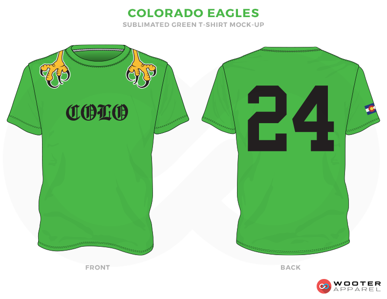 COLRRADO EAGLES Green, Black and Golden Premium Shooting Shirt