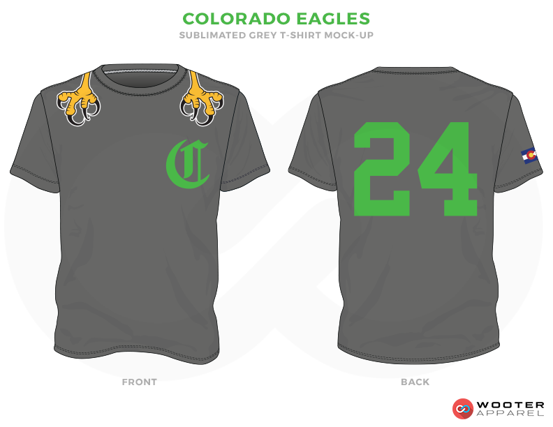 COLORADO EAGLES Grey Green and Yellow Premium Shooting Shirt