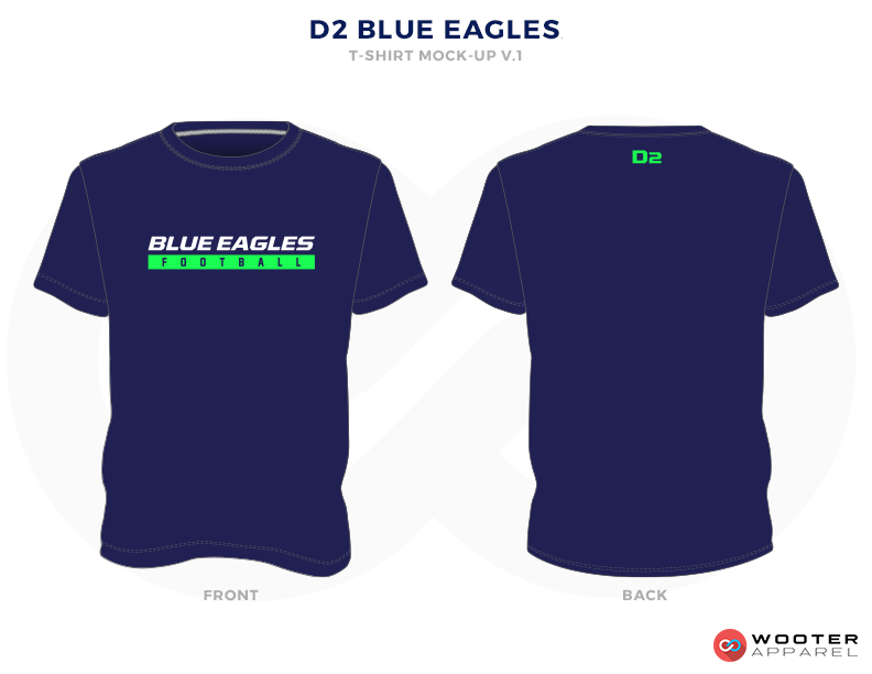 D2 BLUE EAGLES Blue Green and White Premium Shooting Shirt