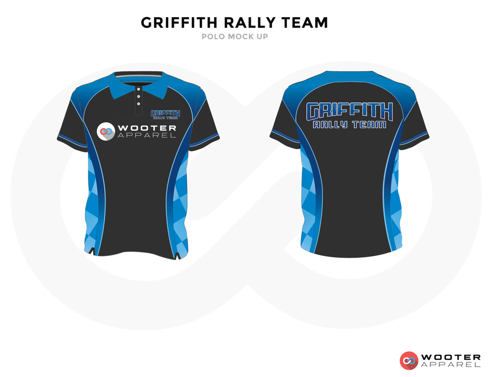 GRIFFITH RALLY TEAM Blue Black and White Premium Shooting Shirt
