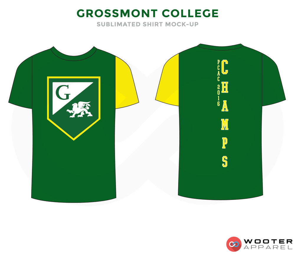 CROSSMONT COLLEGE Green Yellow and White Premium Shooting Shirt