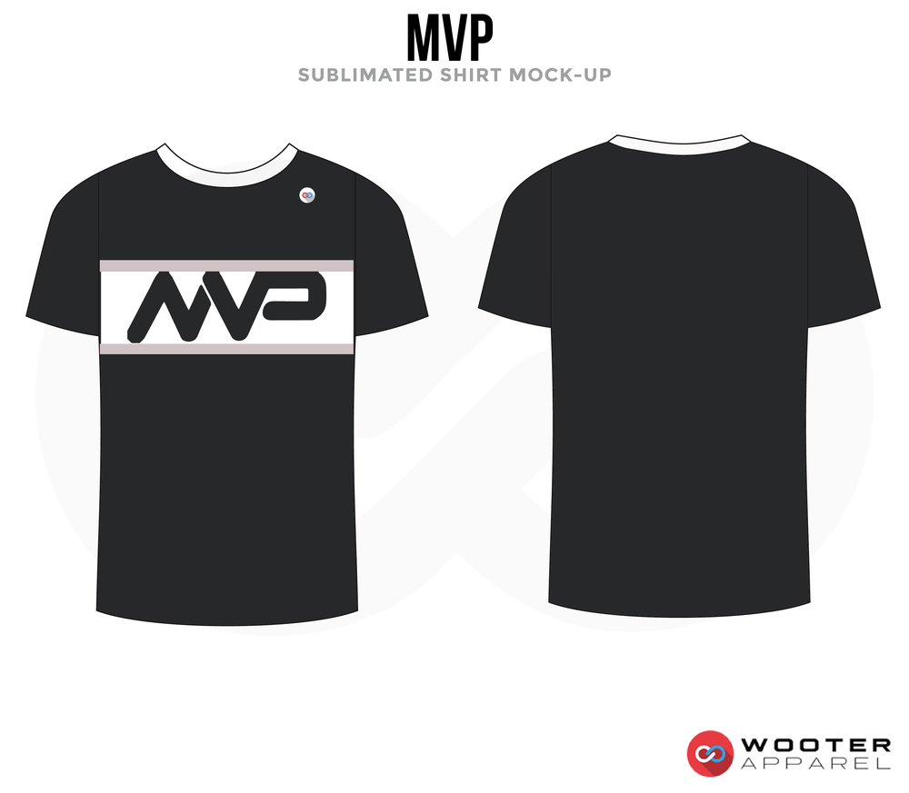 MVP Black and White Premium Shooting Shirt