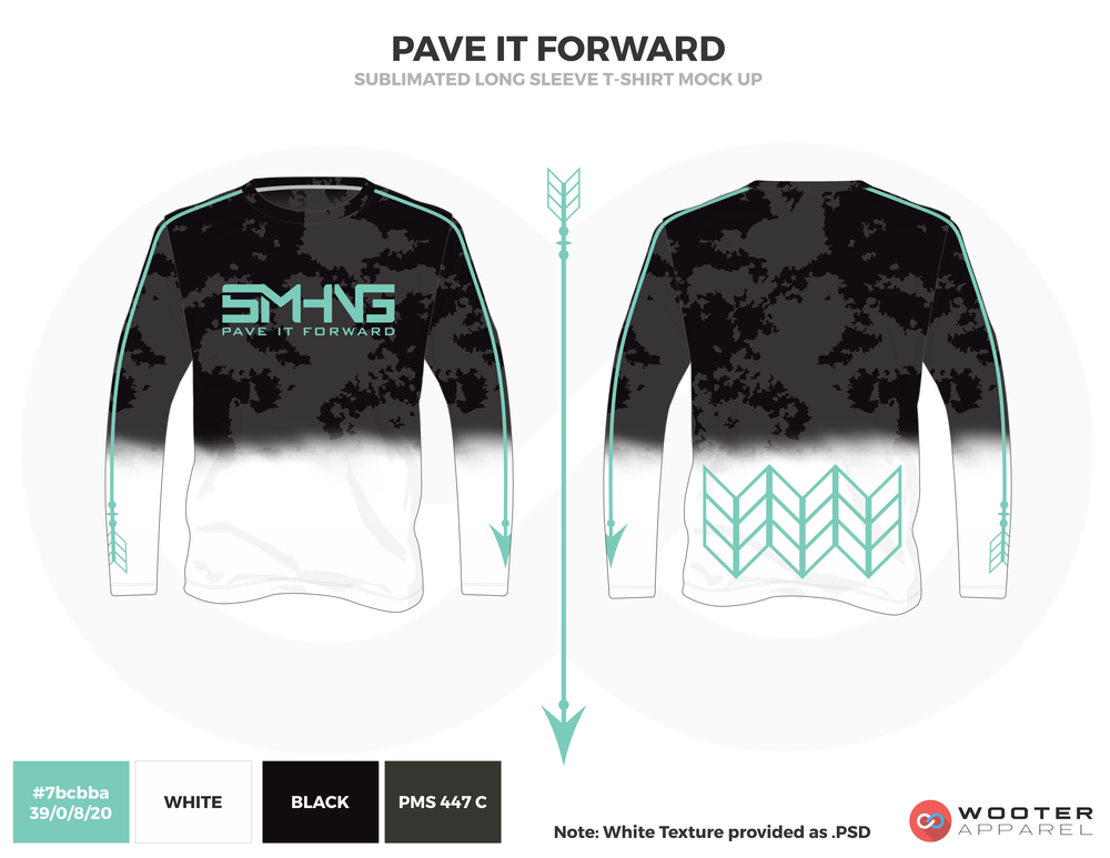 PAVE IT FORWARD Black Blue and White Premium Shooting Shirt