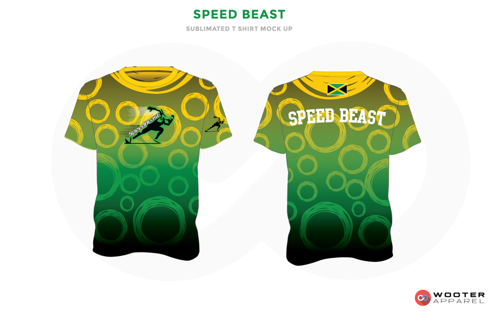 SPEED BEAST Yellow Green White and Black Premium Shooting Shirt