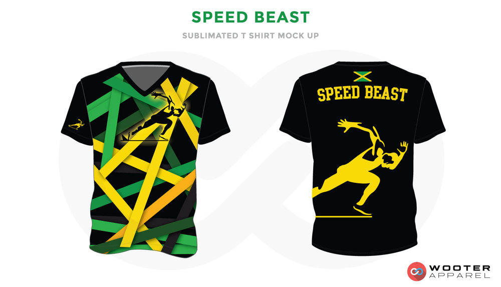 SPEED BEAST Green Black and Yellow Premium Shooting Shirt