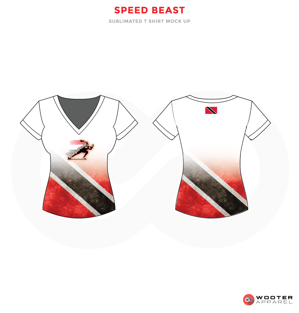 SPEED BEAST Grey Red and White Premium Shooting Shirt