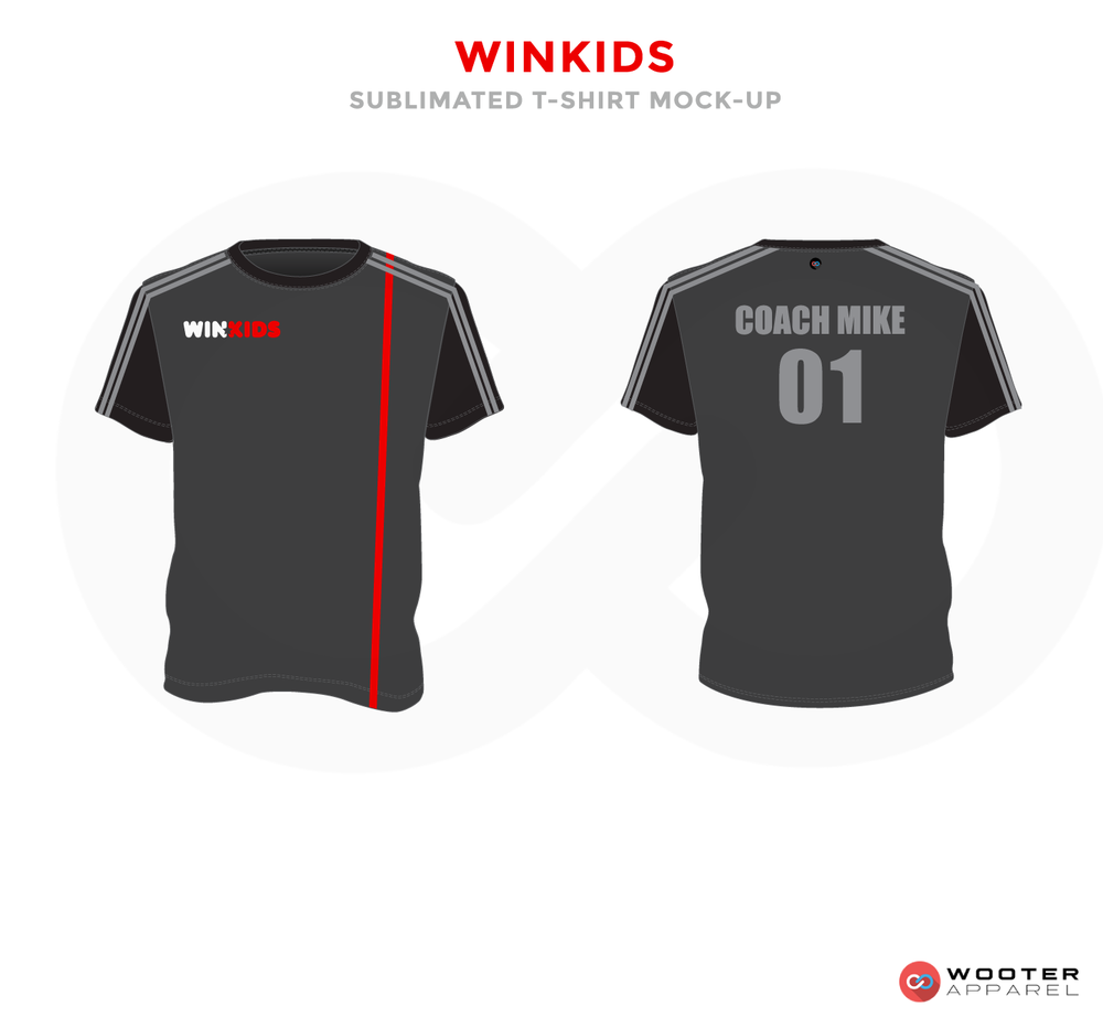 WINKIDS Grey White and Red Premium Shooting Shirt