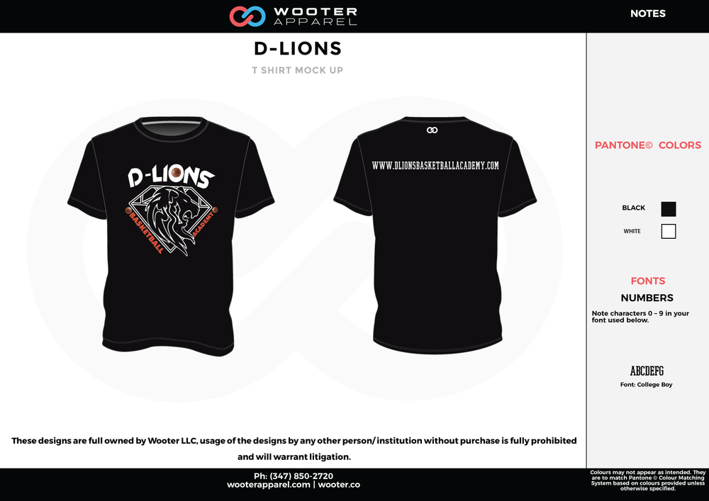 D-LIONS Black Red and White RICHMOND ELITE ABA Grey Red and White Premium Shooting Shirt