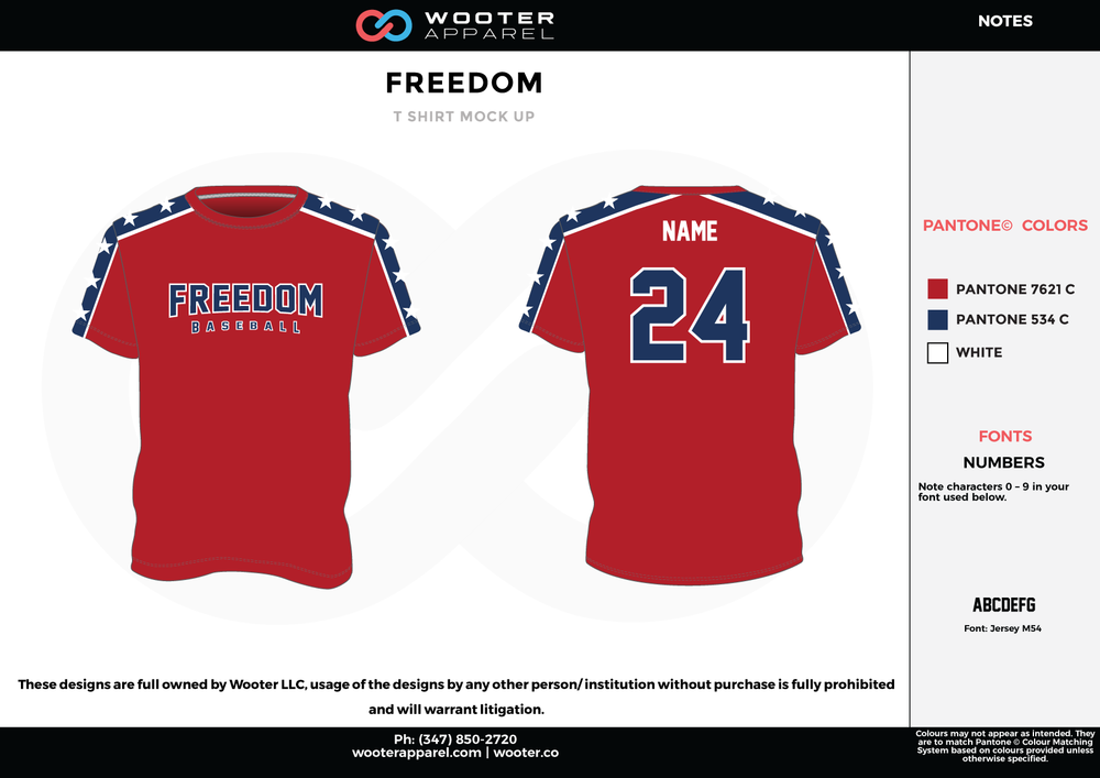 FREEDOM RED WHITE AND BLUE RICHMOND ELITE ABA Grey Red and White Premium Shooting Shirt