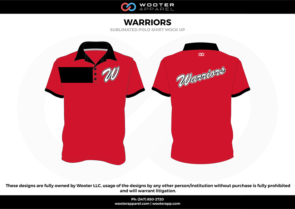 Warriors - Wooter Apparel Website Designs Polo Shirts - Sublimated Polo Shirts - 2017.png