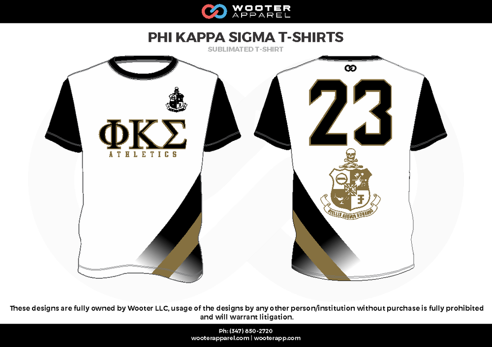 PHI KAPPA SIGMA T-SHIRTS black white beige Short Sleeve Shirt