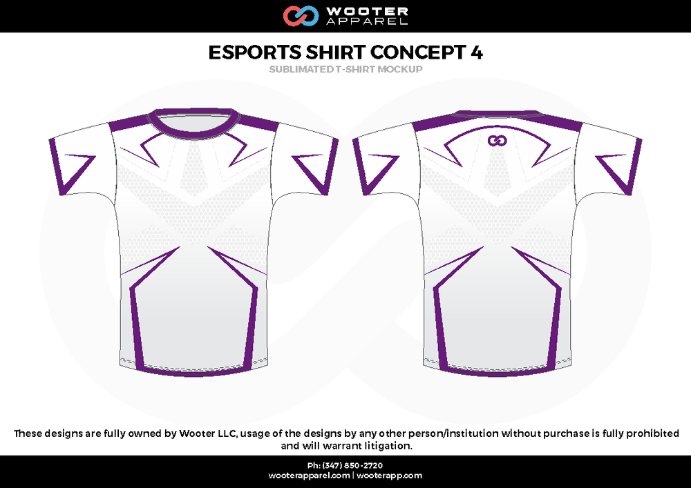 ESPORTS SHIRT CONCEPT 4 white purple e-sports jerseys, shirts, uniforms