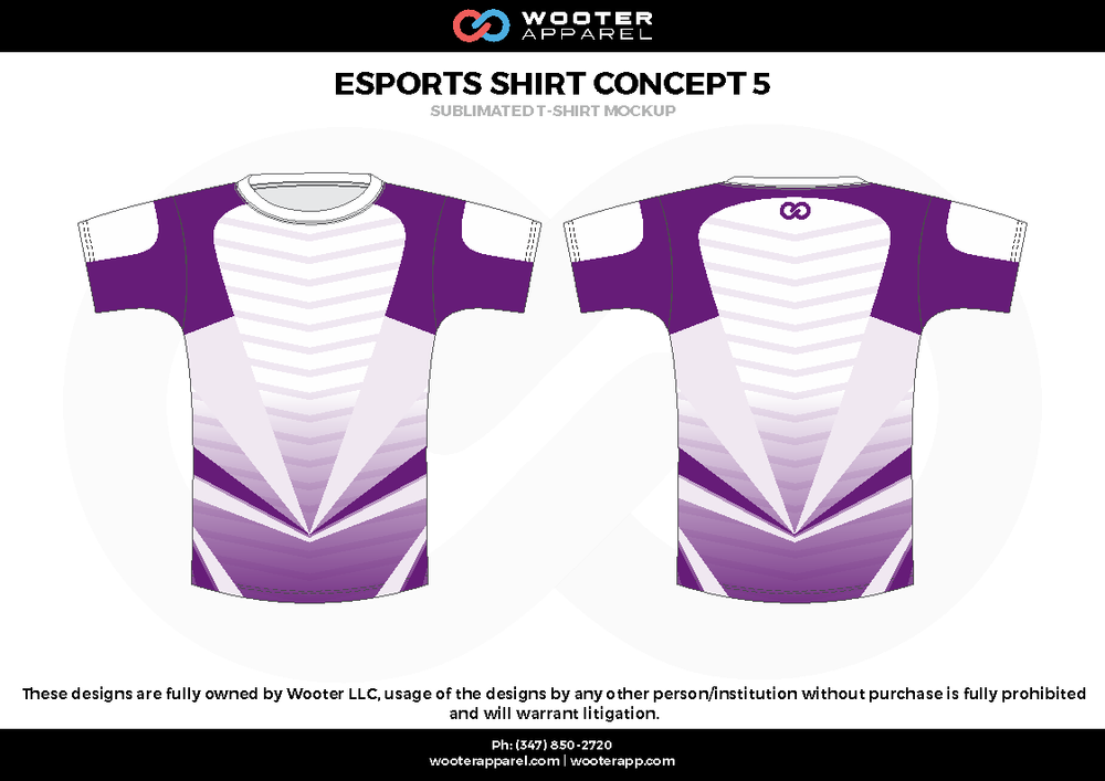 ESPORTS SHIRT CONCEPT 5 purple white e-sports jerseys, shirts, uniforms