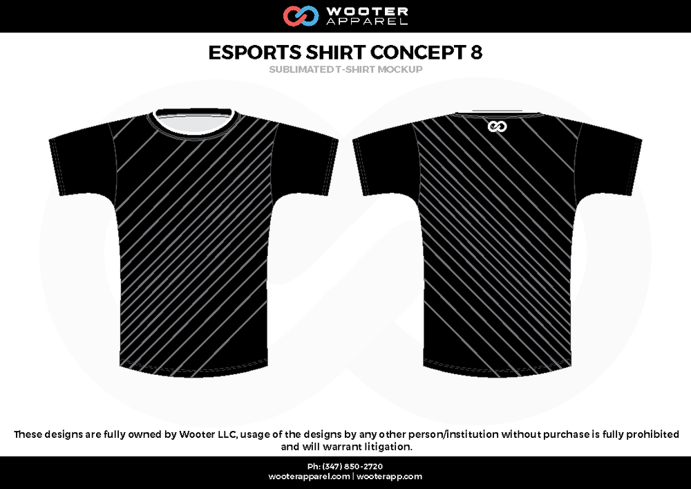 ESPORTS SHIRT CONCEPT 8 black white e-sports jerseys, shirts, uniforms