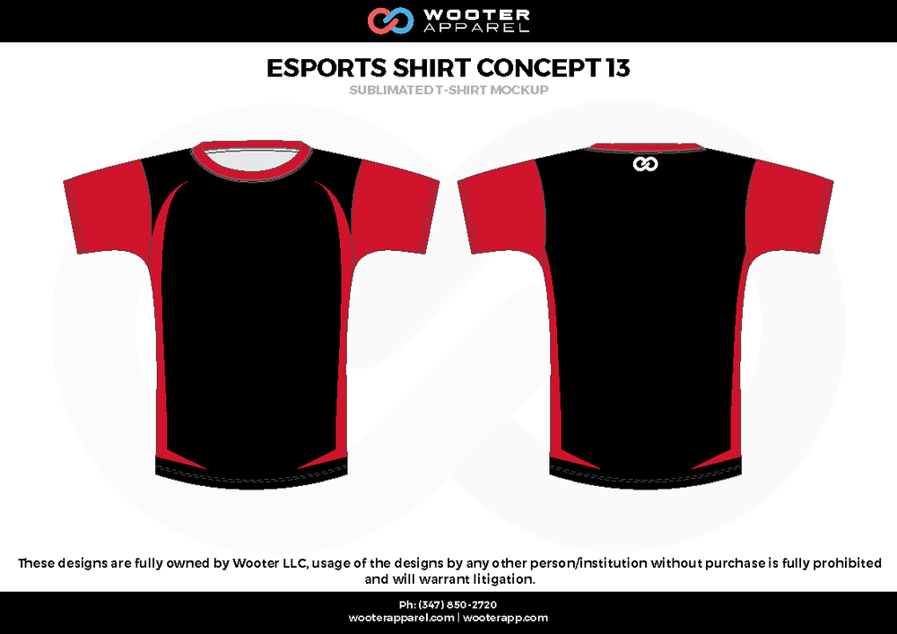 ESPORTS SHIRT CONCEPT 13 red black e-sports jerseys, shirts, uniforms