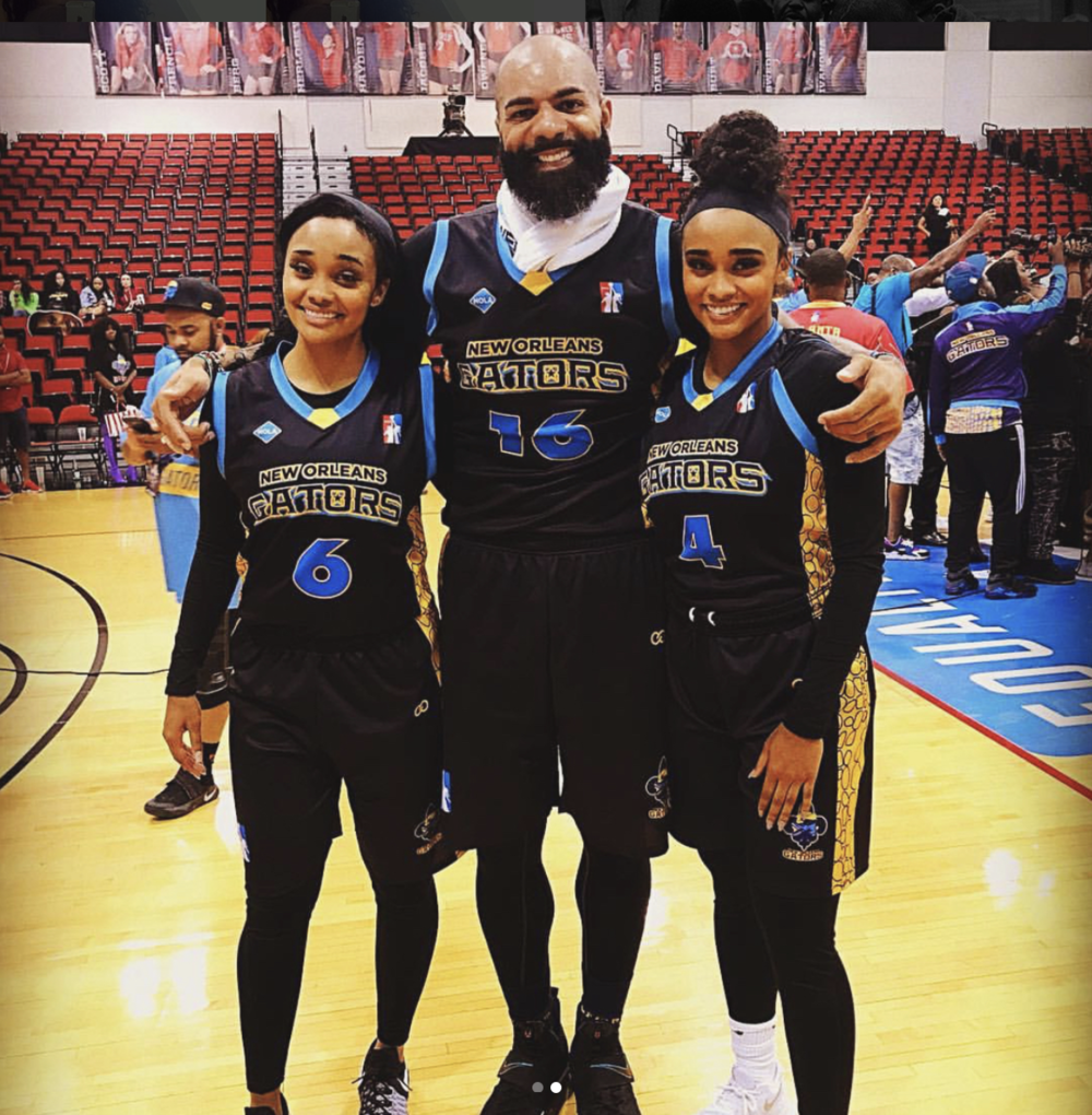 Carlos boozer with the gonzalez twins rocking wooter apparel uniforms.