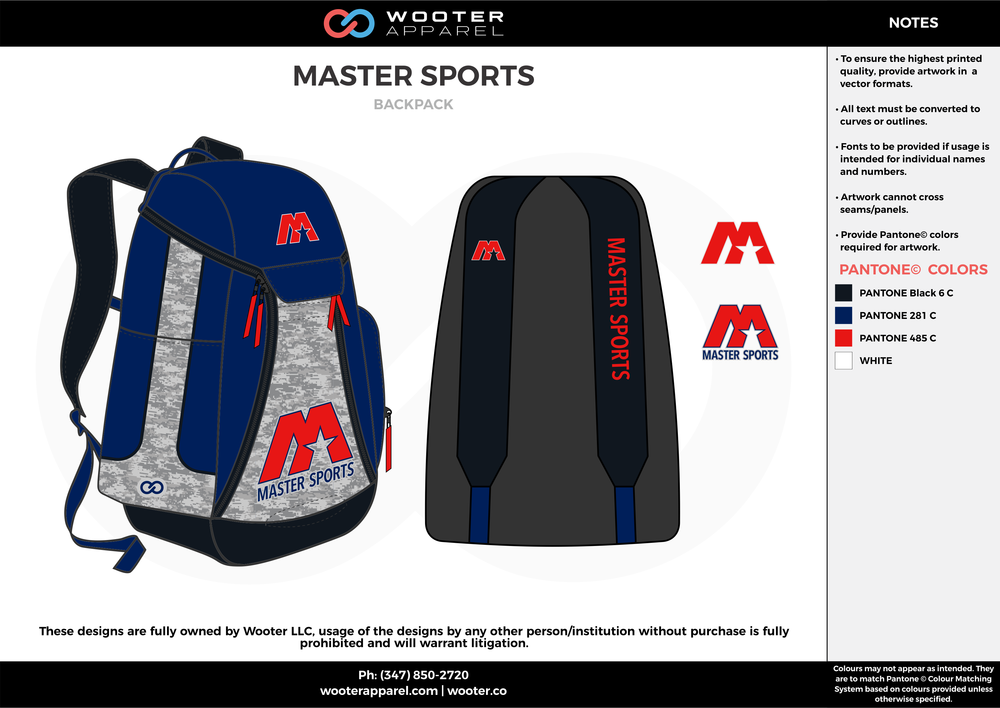 53ffab62269b MATER SPORTS blue white red black Custom Basketball Backpacks