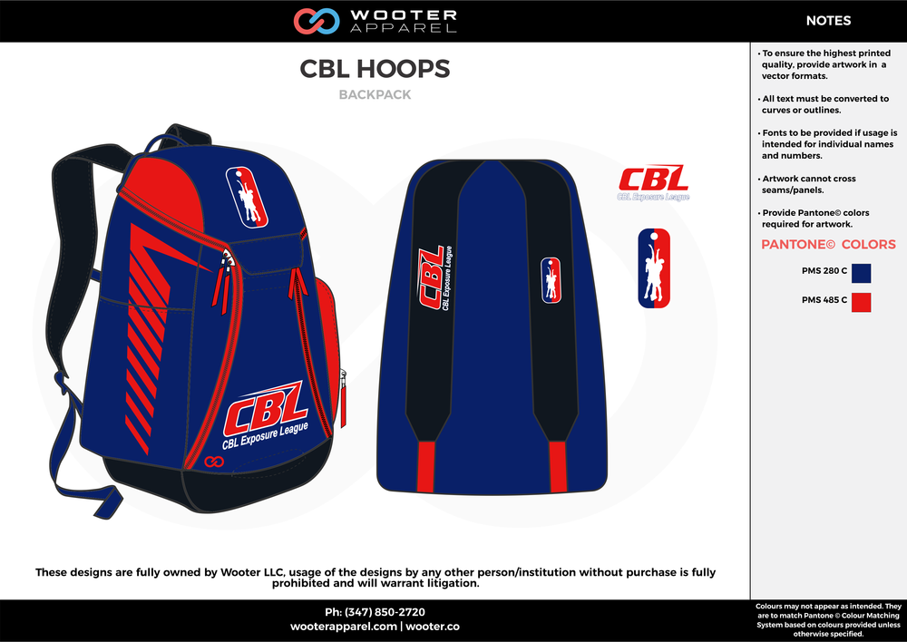 CBL HOOPS  orange blue  Custom Basketball Backpacks, Bags, Nike Elite Bags