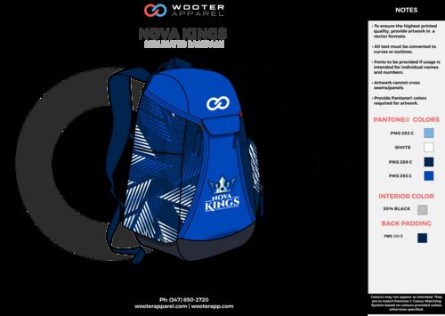 NOVA KINGS navy sky blue gray white Custom Basketball Backpacks 24a4b1c4ce7d7
