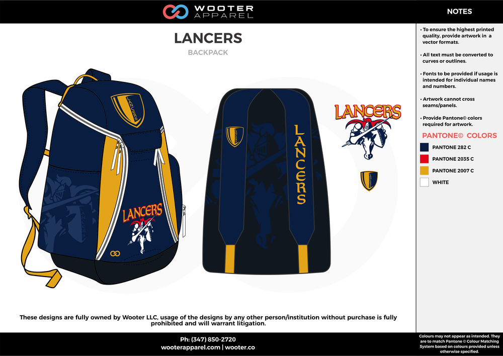 LANCERS navy blue yellow red  Custom Basketball Backpacks, Bags, Nike Elite Bags