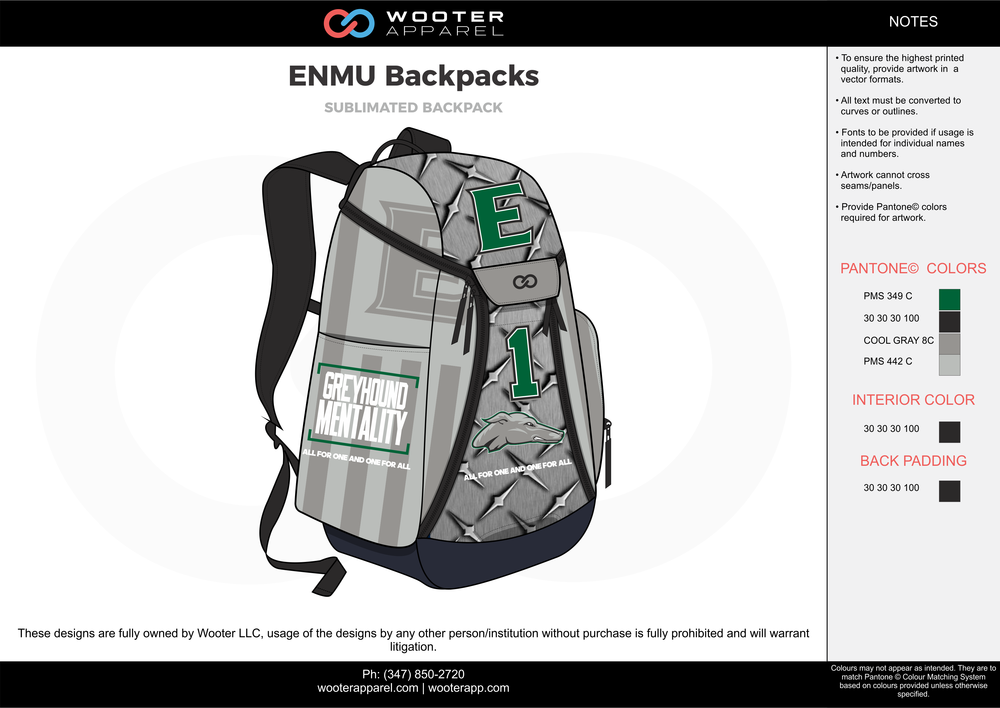 ENMU Backpacks gray black green  Custom Basketball Backpacks, Bags, Nike Elite Bags