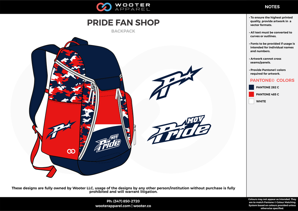 PRIDE FAN SHOP navy blue red white  Custom Basketball Backpacks, Bags, Nike Elite Bags