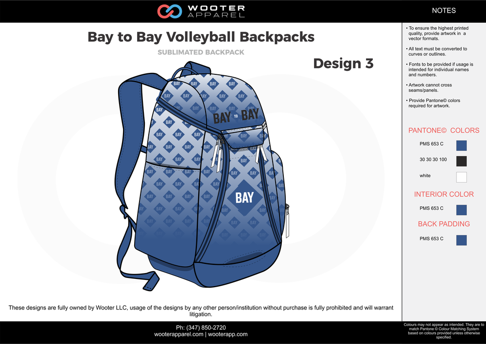Bay to Bay Volleyball Backpacks blue black white  Custom Basketball Backpacks, Bags, Nike Elite Bags