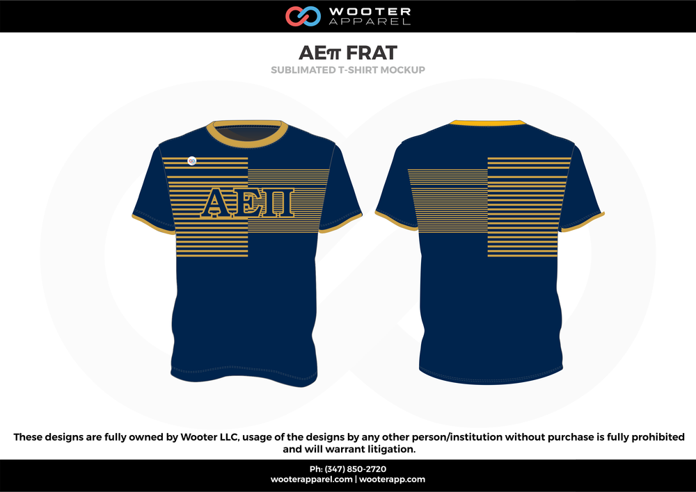 AE11 FRAT  blue beige yellow sublimated uniforms t-shirts