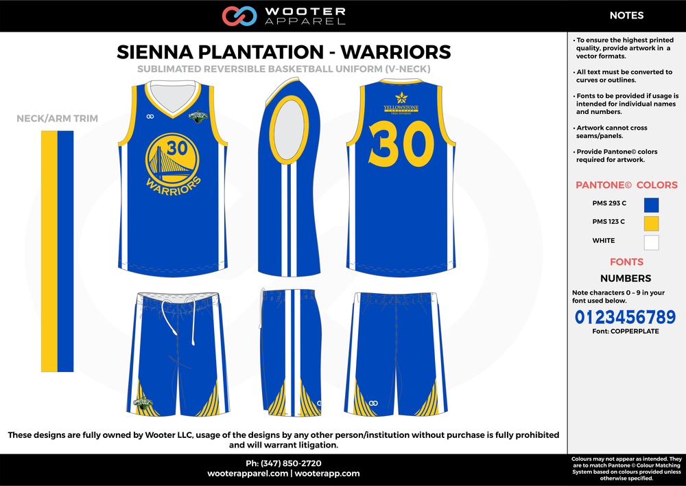Sienna Plantation - Warriors - 14-15 Sublimated Reversible Basketball Uniform - 2017 1.png