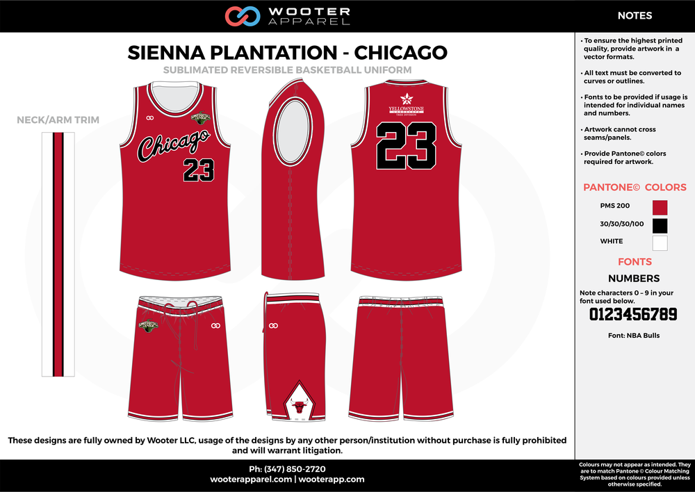 CHICAGO red black white Basketball uniforms jerseys shorts