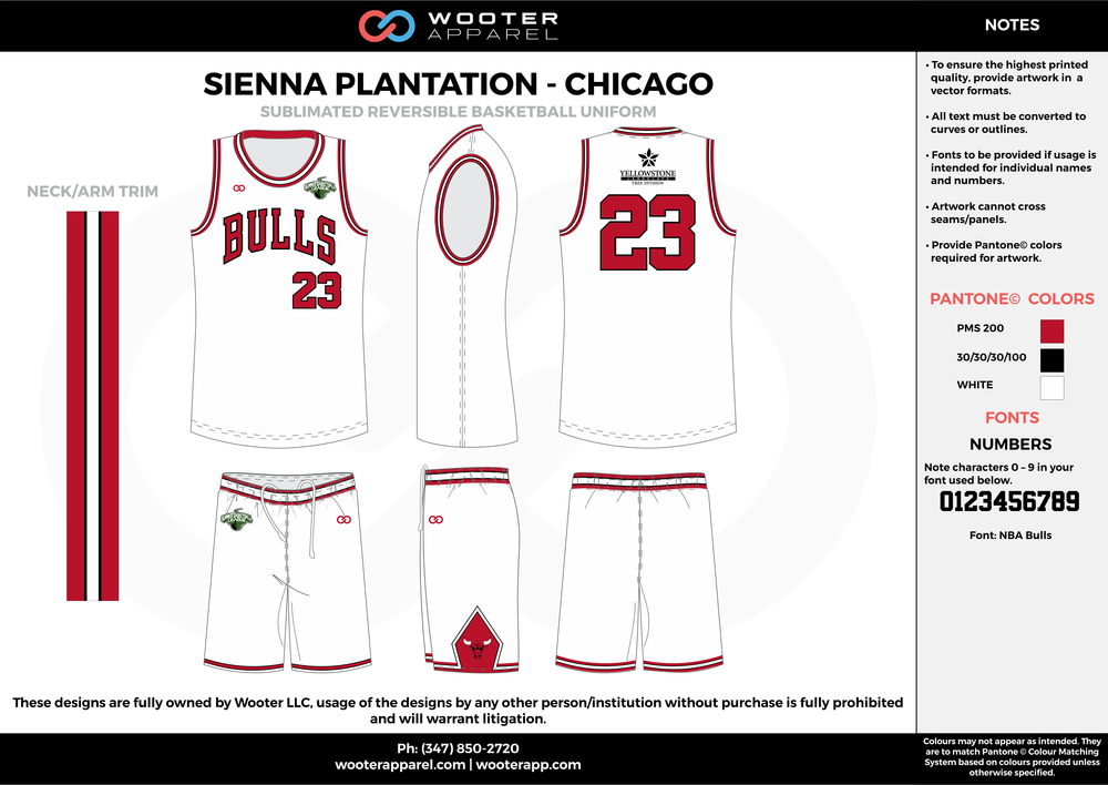 CHICAGO white red black Basketball uniforms jerseys shorts