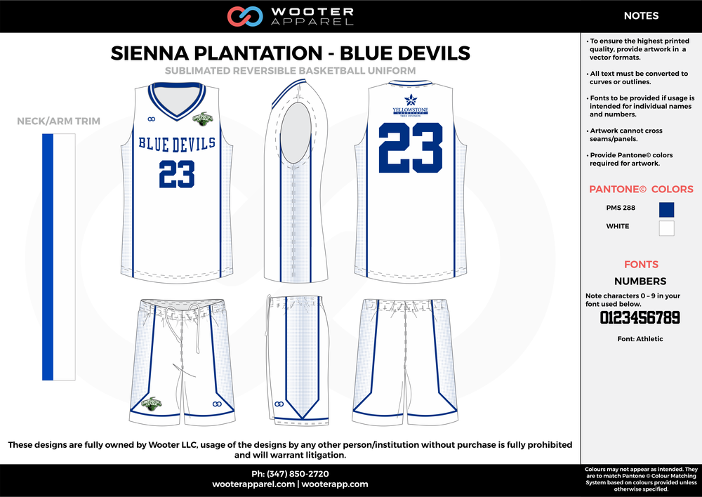 BLUE DEVILS white blue Basketball uniforms jerseys shorts