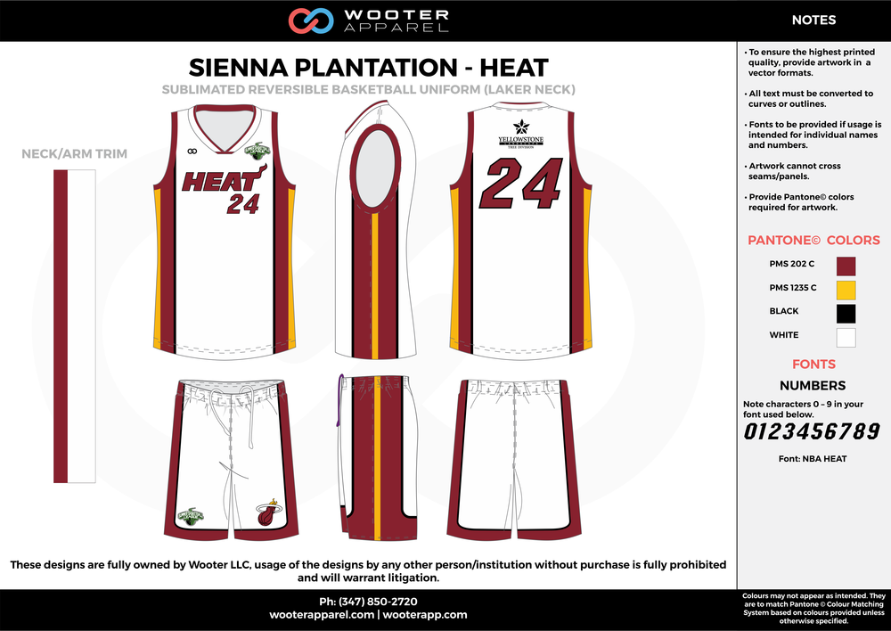 HEAT maroon white yellow black Basketball uniforms jerseys shorts
