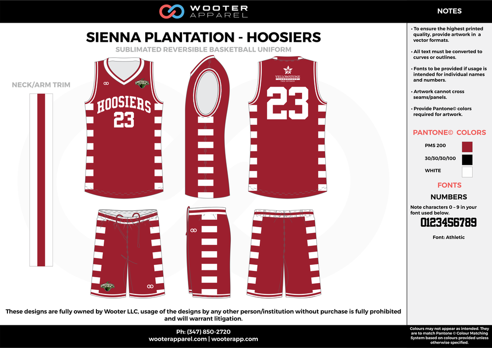Sienna Plantation - Hoosiers - Sublimated Reversible Basketball Uniform - 2017 1.png