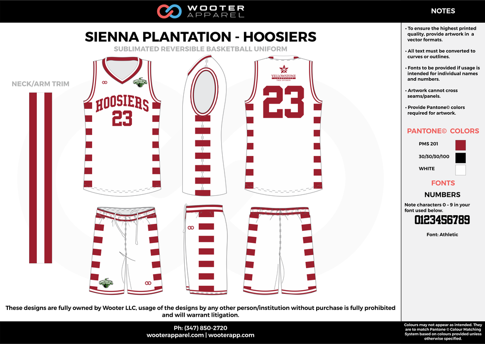 Sienna Plantation - Hoosiers - Sublimated Reversible Basketball Uniform - 2017 2.png