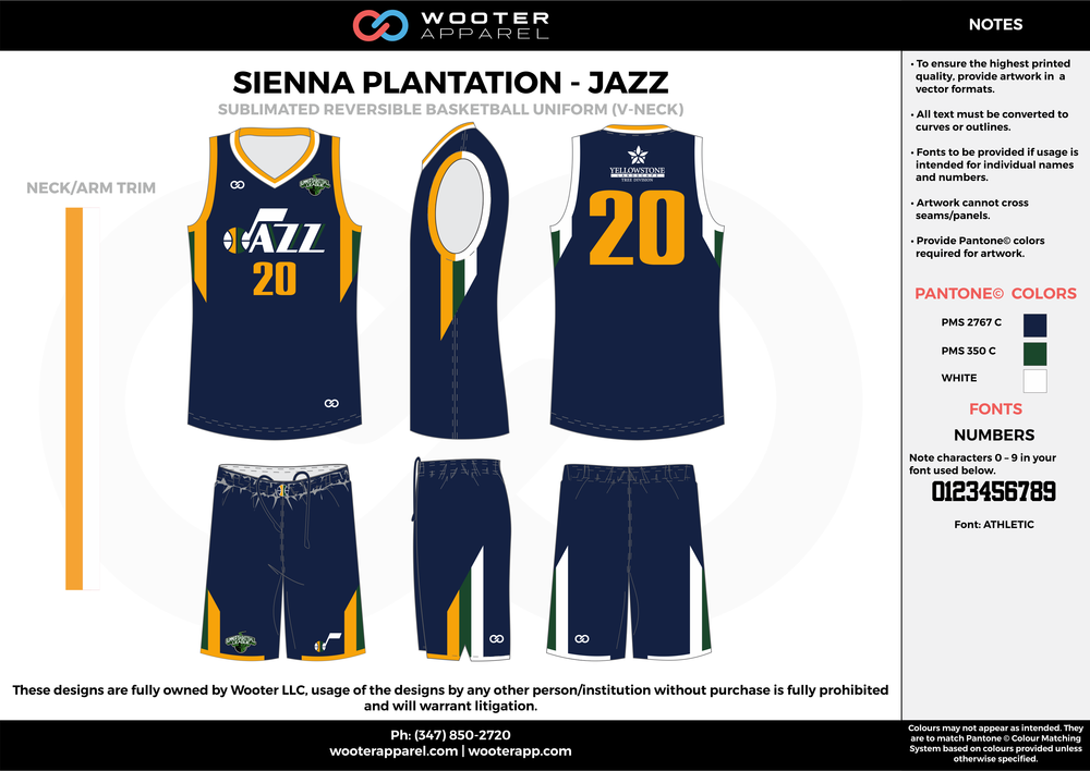 JAZZ navy blue white yellow Basketball uniforms jerseys shorts