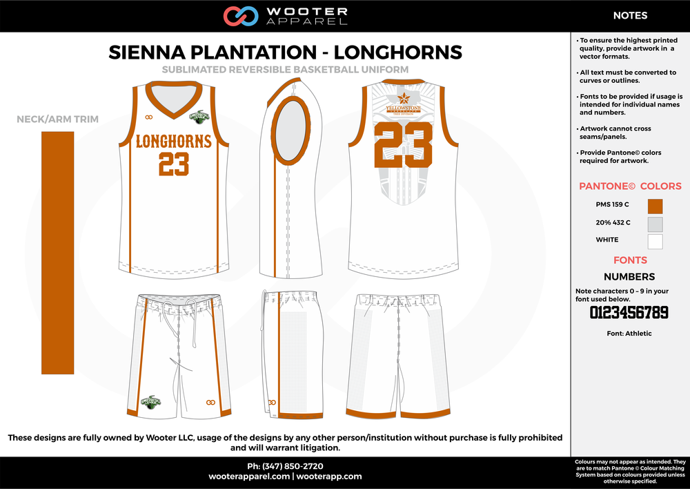 LONGHORNS white gray gold Basketball uniforms jerseys shorts