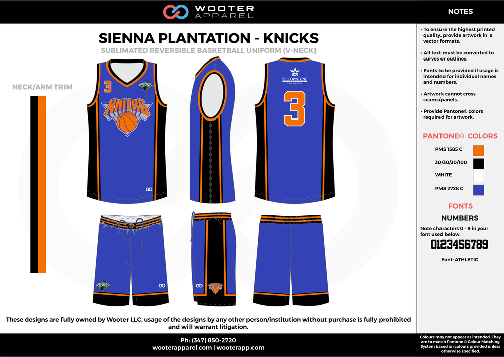 KNICKS blue orange black white Basketball uniforms jerseys shorts