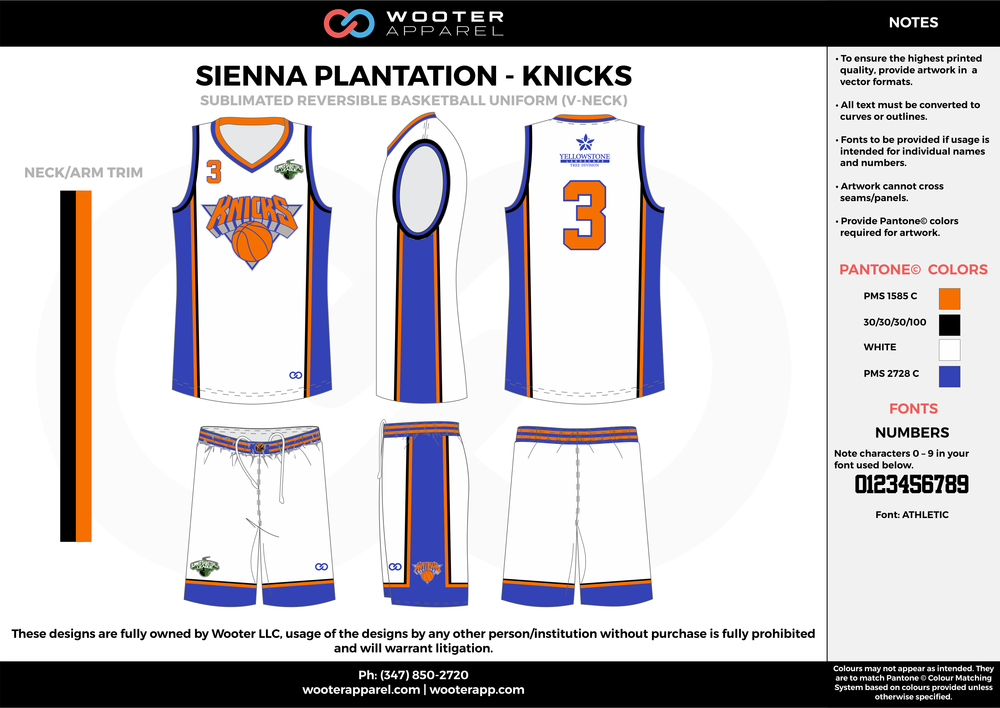 KNICKS orange white blue black Basketball uniforms jerseys shorts