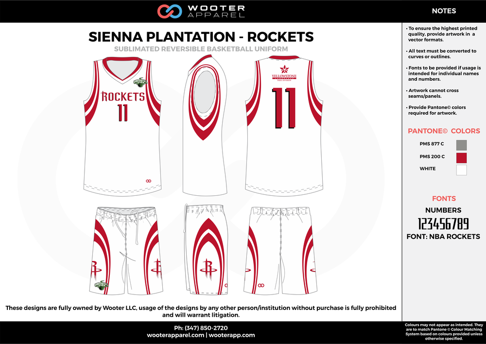 ROCKETS red gray white Basketball uniforms jerseys shorts