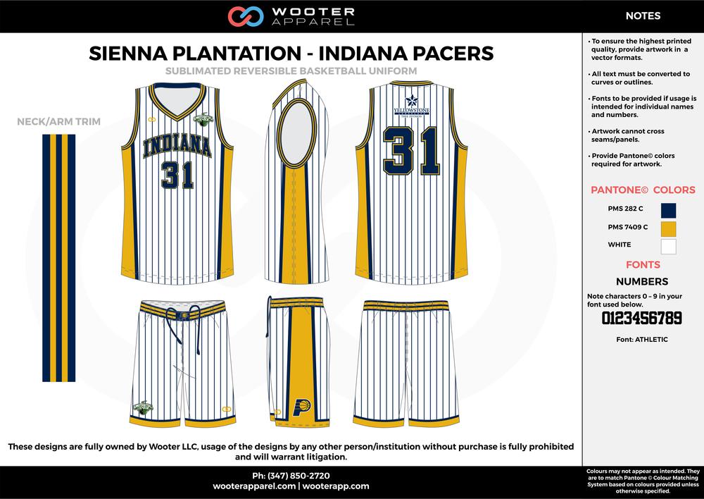 Sienna Plantation - Summer  League - Indiana - Sublimated Reversible Basketball Uniform - 2017 2.png