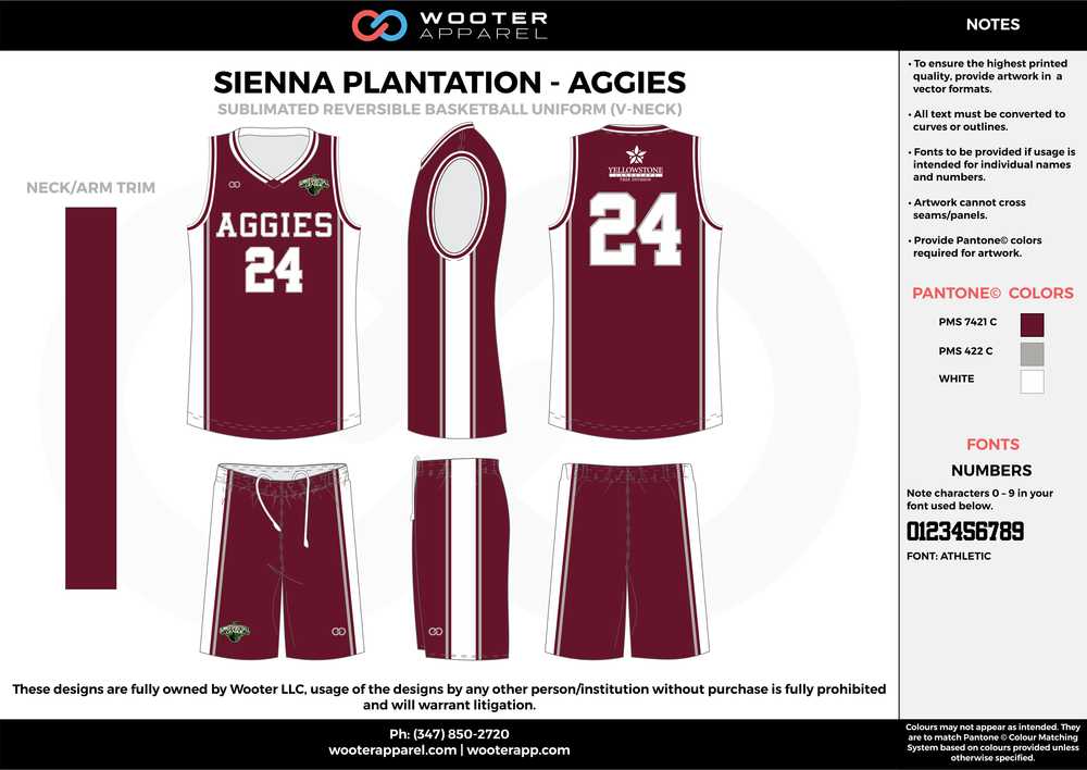 AGGIES maroon gray white Basketball uniforms jerseys shorts