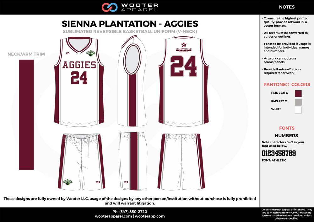 AGGIES white maroon gray Basketball uniforms jerseys shorts