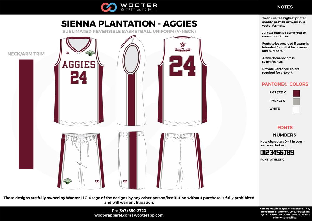 Sienna Plantation - Summer Basketball League - Aggies - Sublimated Reversible Basketball Uniform - 2017 2.png