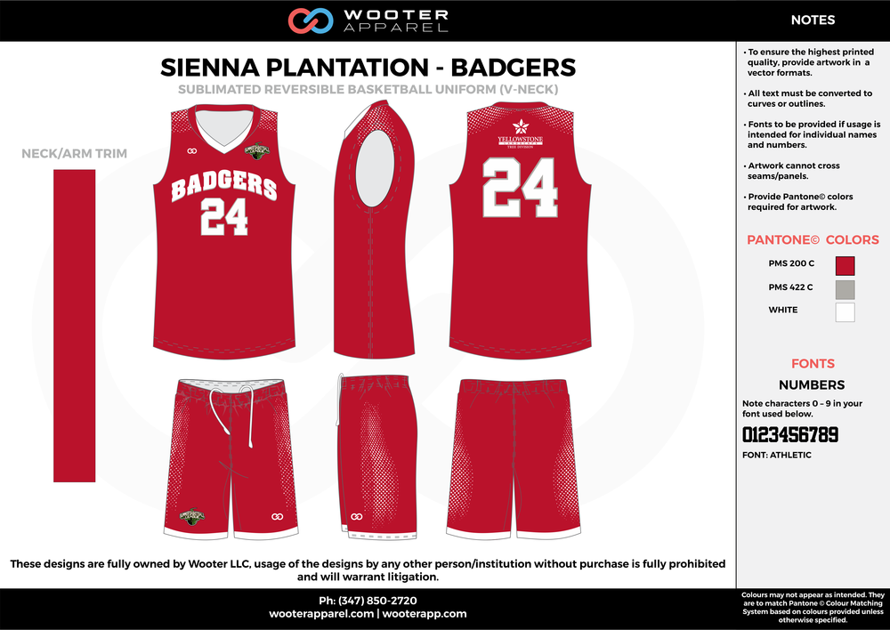 BADGERS red gray white Basketball uniforms jerseys shorts