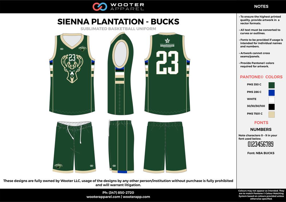 Sienna Plantation - Summer Basketball League - Bucks - Sublimated Reversible Basketball Uniform - 2017 2.png
